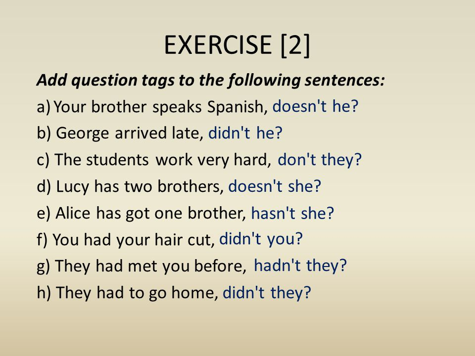 EXERCISE [2]